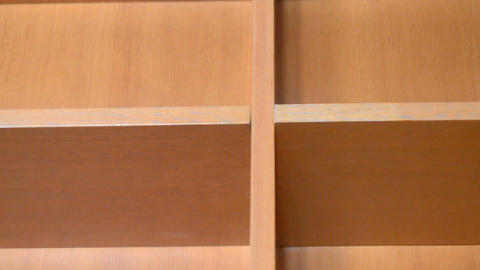 Empty Shelves Made Of Plywood Live Action