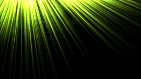 Animated Light Rays - Lime Green Animation