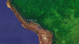 Cusco - Peru zoom in from space Animation