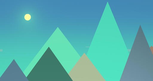 Flatland Backgrounds - Pyramids DAY Animation