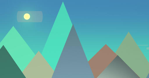 Flatland Backgrounds - Pyramids DAY Stock Video Footage