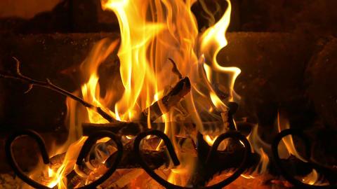 Video of glowing fire in 4K Footage