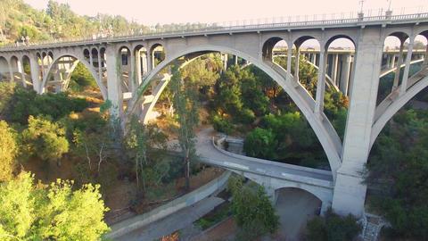 Aerial Freeway Bridge Live Action