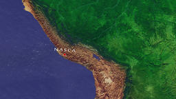 Nasca - Peru zoom in from space Animation