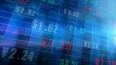 Global Currency Exchange Rates 4K Animation