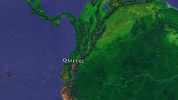 Quito - Ecuador zoom in from space Animation