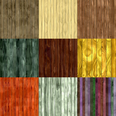 Set of wood fence seamless generated textures Photo