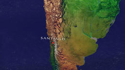 Santiago - Chile zoom in from space Animation