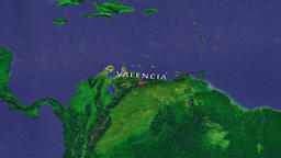 Valencia - Venezuela zoom in from space Animation
