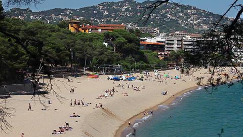 beach in summer resort city Footage