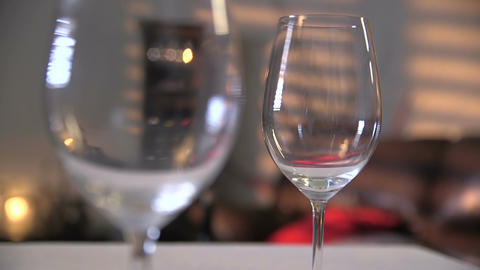 Man taking glasses of wine from the table Footage