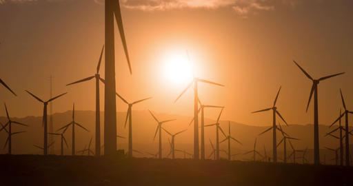 Sunrise Wind Farm California Footage