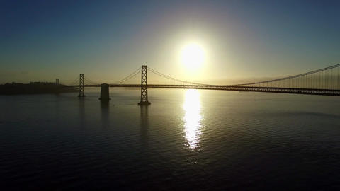 Aerial San Francisco Bay Bridge Footage
