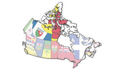 Animated administration map of canada Archivo