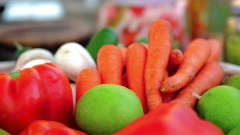 Bowl of vegetables Footage