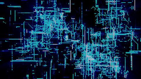 Digital Matrix Particles Grid Animation