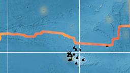 Galapagos tectonics featured. Topography. Kavrayskiy VII projection Animation