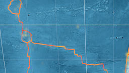 Juan Fernandez tectonics featured. Topography. Kavrayskiy VII projection Animation