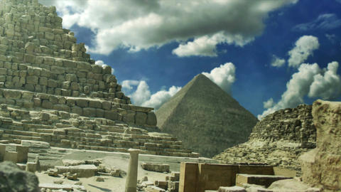 The Pyramids of Giza Egypt Animation