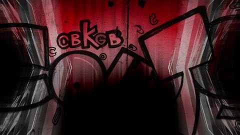 Dark Red Graffiti mix Footage