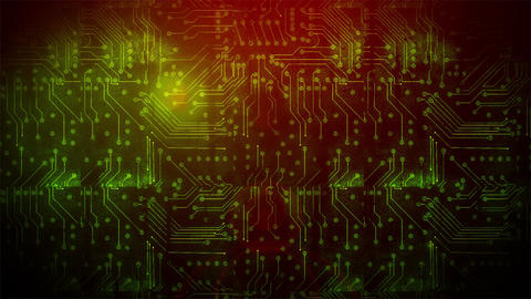Grunge Circuit Board 2 Animation