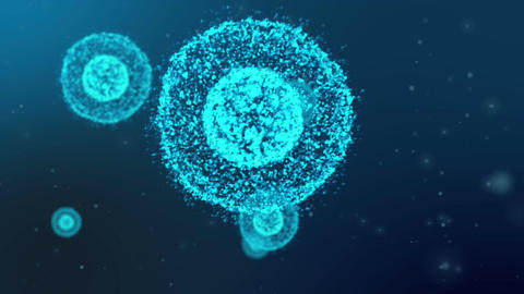 Microscopic Cells Organism Animation