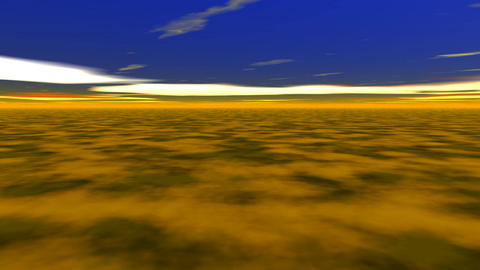 Abstract landscape yellow ground Stock Video Footage