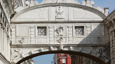 Bridge of Sighs in Venice Italy Footage