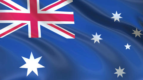 Flag of Australia waving in the wind Animation