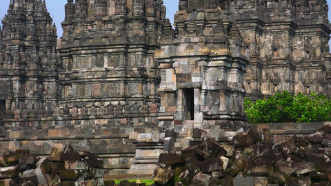 Candi Prambanan or Rara Jonggrang, largest Hindu temple site in Indonesia Footage