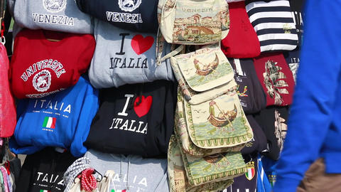 Souvenir Stand on the Streets of Venice Footage