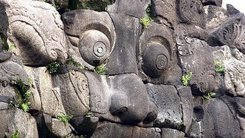 Hindu mythological creature, Candi Prambanan temple... Stock Video Footage