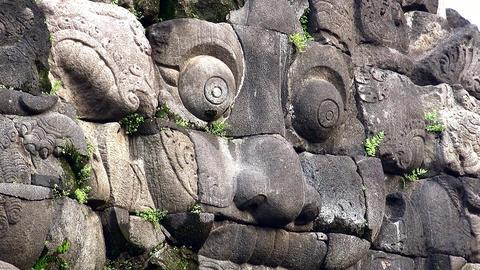 Hindu mythological creature, Candi Prambanan temple complex, Java, Indonesia Footage