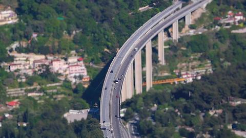 Traffic Motorway Bridge Timelapse Footage