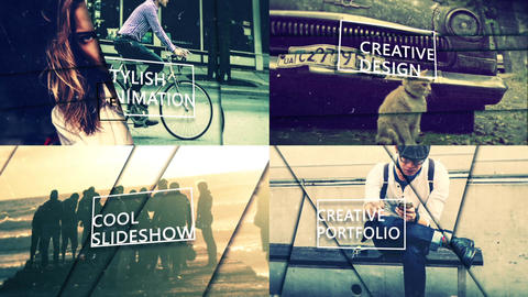 Slideshow Parallax Motion After Effects Template