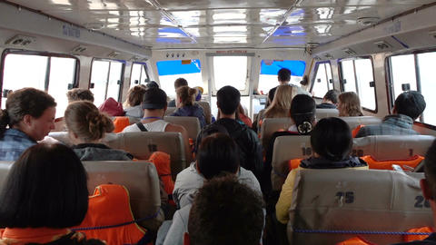 People travel by ferry Live Action