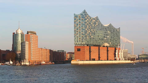 Elbphilharmonie in Hamburg Footage