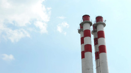 Factory Chimneys stock footage