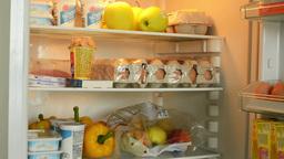 open refrigerator/fridge Footage