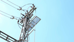 electricity pylons - high-voltage Footage