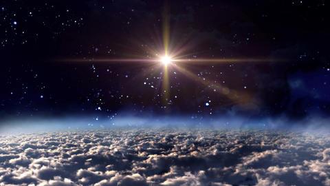 space night orange star cross Animation