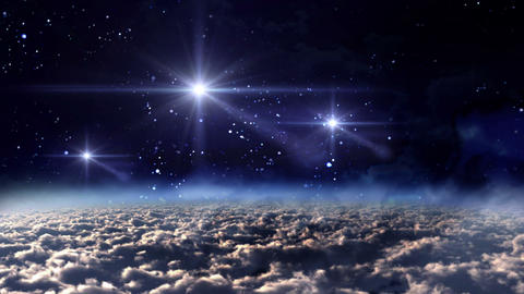 space night white stars Animation