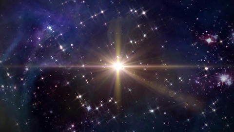 Space With Yellow Star Cross stock footage