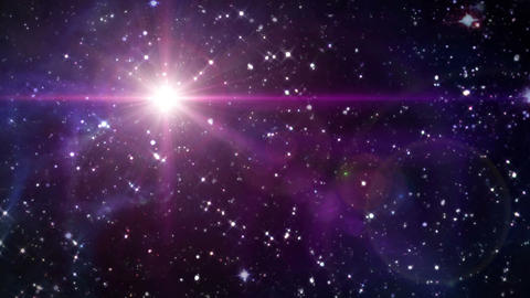 star lens flare in space color Animation