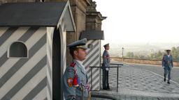 Prague Castle - gateway and guards Footage