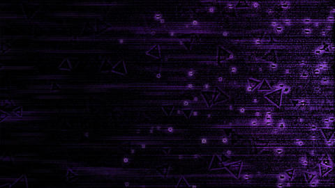 Abstract Triangle Particle Background Animation - Loop Violet Animation