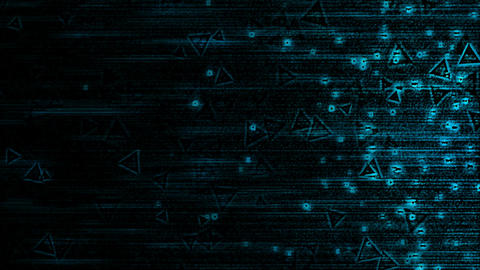 Abstract Triangle Particle Background Animation - Loop Blue Animation