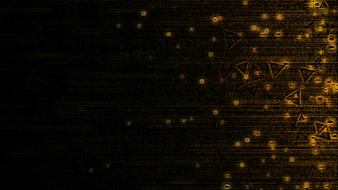 Abstract Triangle Particle Background Animation - Loop Orange Animation