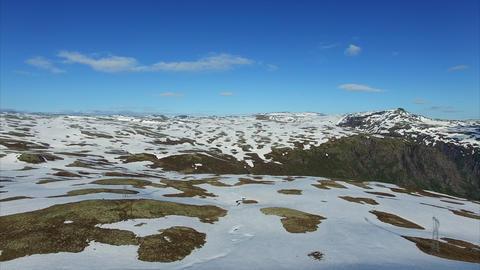 Norwegian Landscape In Aurlandsfjellet Mountain Pass stock footage