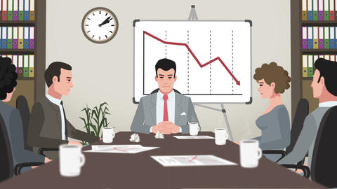 Cartoon Corporate / Failed Business Meeting Animation